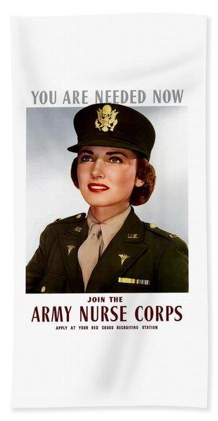 Join The Army Nurse Corps Bath Towel