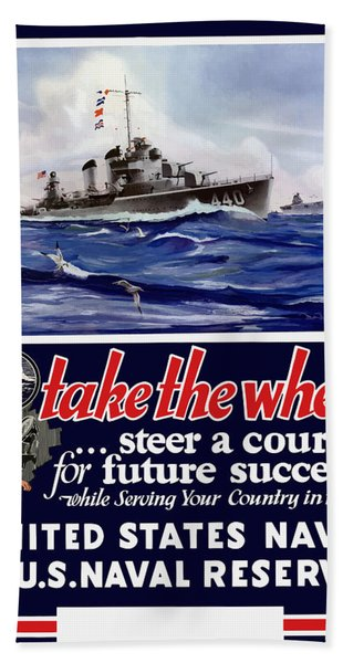 Join The Us Navy - Ww2 Hand Towel