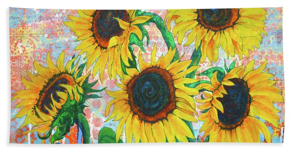 Joy Of Sunflowers Desiring Bath Towel