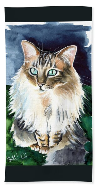 Juju - Cashmere Bengal Cat Painting Bath Towel