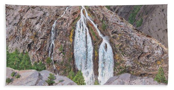 June Lake Loop Falls Bath Towel