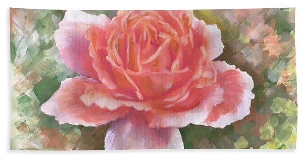 Just Joey Rose From The Acrylic Painting Hand Towel