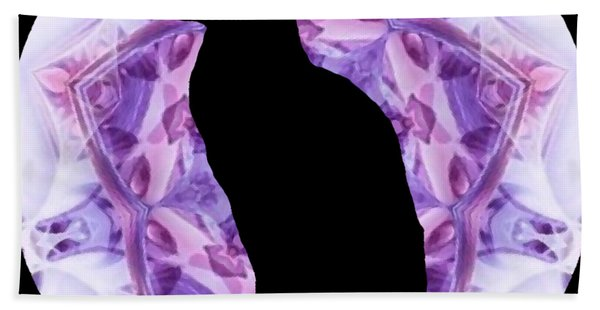 Kaleidoscope Cat Silhouette Hand Towel