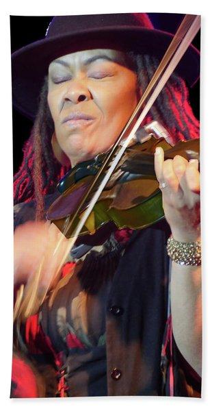 Karen Briggs 2017 Hub City Jazz Festival - In The Moment Bath Towel
