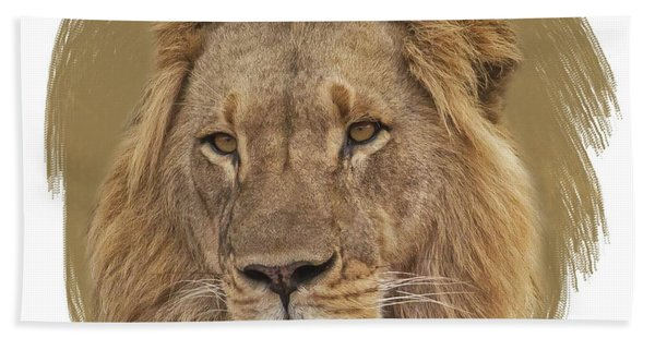 Bath Towel featuring the digital art King Of Beasts 6 by Larry Linton