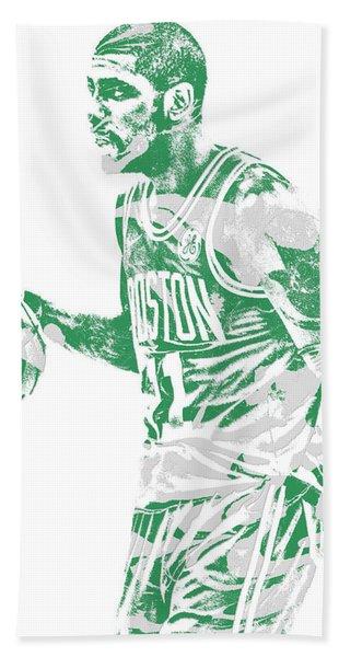 Kyrie Irving Boston Celtics Pixel Art 40 Hand Towel