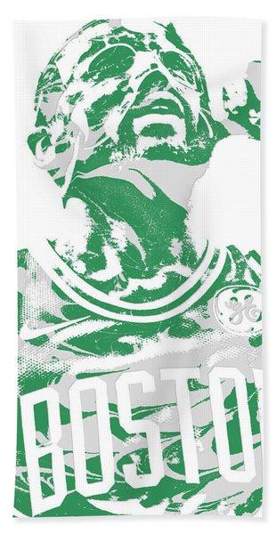 Kyrie Irving Boston Celtics Pixel Art 41 Hand Towel