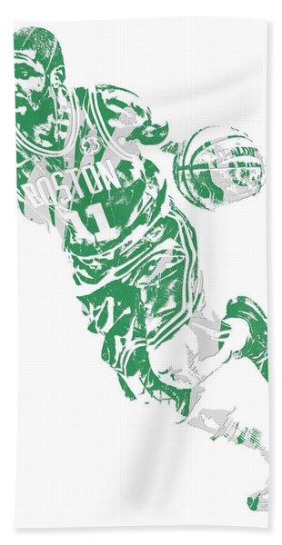Kyrie Irving Boston Celtics Pixel Art 9 Hand Towel