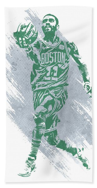 Kyrie Irving Boston Celtics Water Color Art Hand Towel