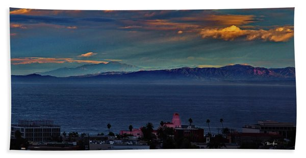 La Jolla Sunrise - Pink Lady Hand Towel