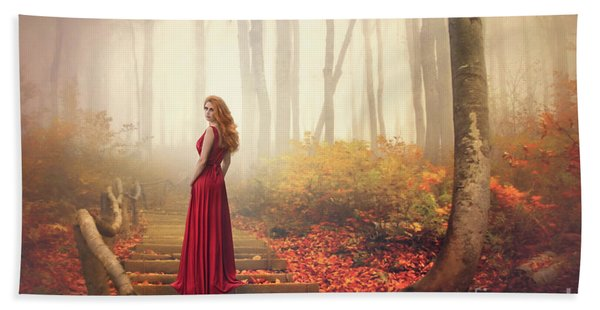 Lady Of The Golden Forest Bath Towel