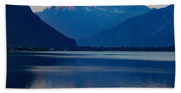 Lake Geneva, Switzerland Bath Towel