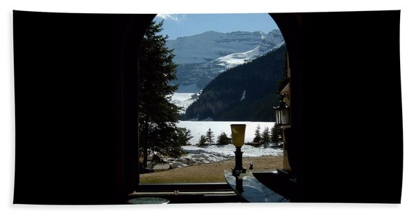Lake Louise Inside View Hand Towel