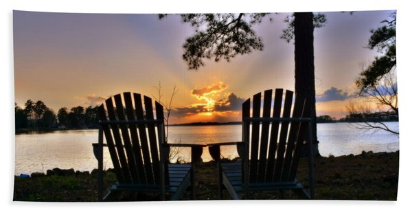 Lake Murray Relaxation Hand Towel