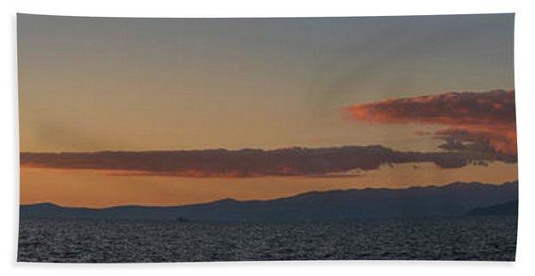 Lake Tahoe South Shore Panorama - 1 Hand Towel