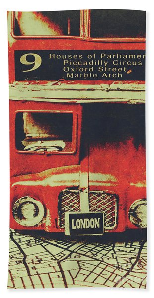Lanes And Lines Of London Hand Towel