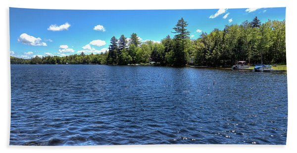 Late Spring On 6th Lake Hand Towel