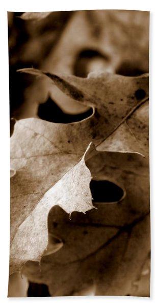 Leaf Study In Sepia IIi Hand Towel