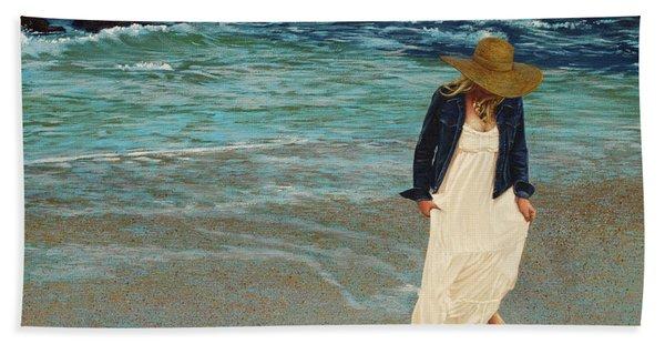 Leaving The Beach Hand Towel