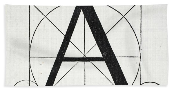 Letter A Hand Towel
