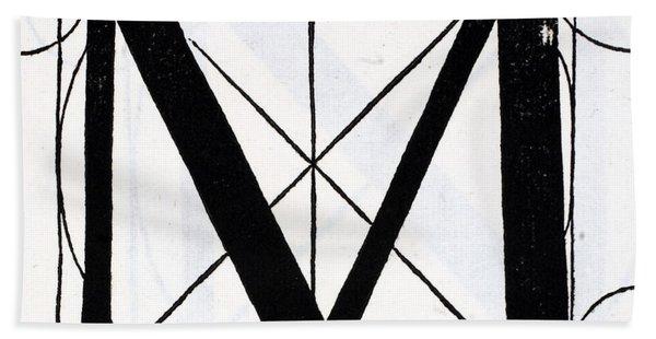 Letter M Hand Towel