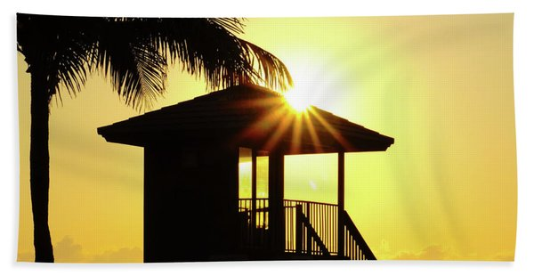 Lifeguard Station Sunburst Delray Beach Florida Bath Towel