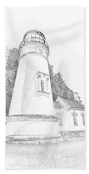 Lighthouse In Oregon Hand Towel