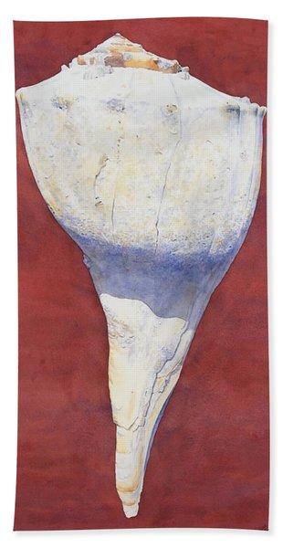 Lightning Whelk Conch II Bath Towel