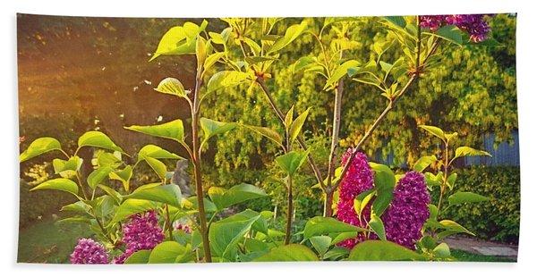 Lilac Tree Bath Towel