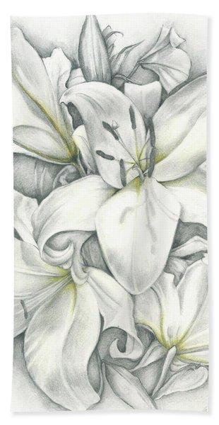 Lilies Pencil Bath Towel