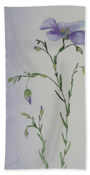 Hand Towel featuring the painting Linacea by Ruth Kamenev