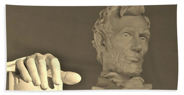 Lincoln Head And Hand Bath Towel