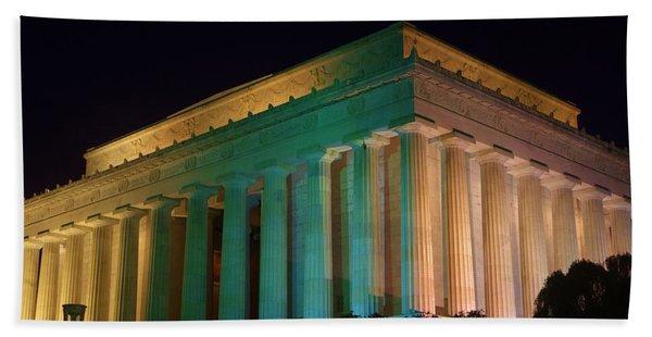 Lincoln Memorial At Night Hand Towel