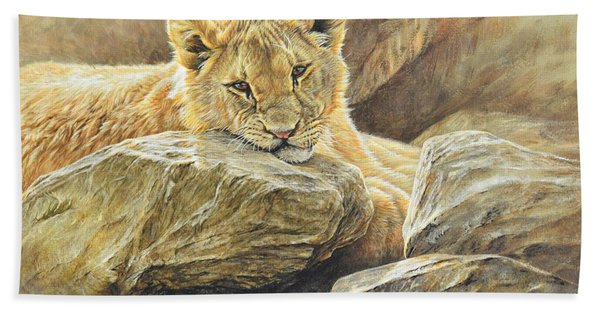 Lion Cub Study Bath Towel