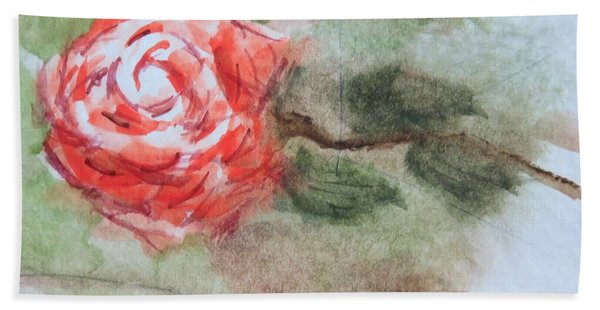 Little Rose Hand Towel