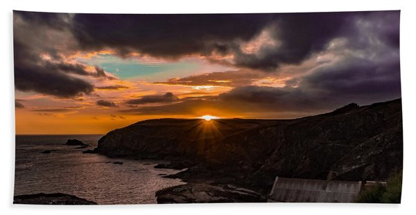 Lizard Point Sunset  Bath Towel