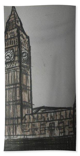 London Big Ben Bath Towel