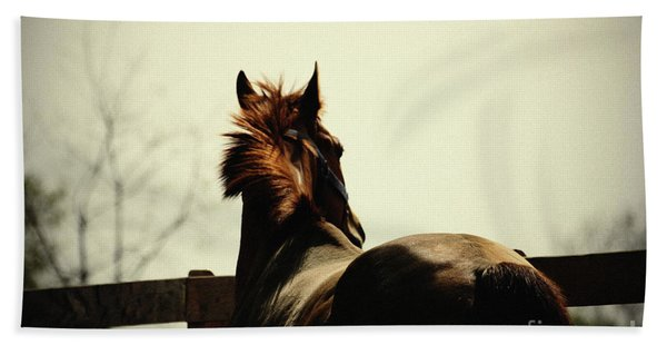 Lonely Horse Bath Towel