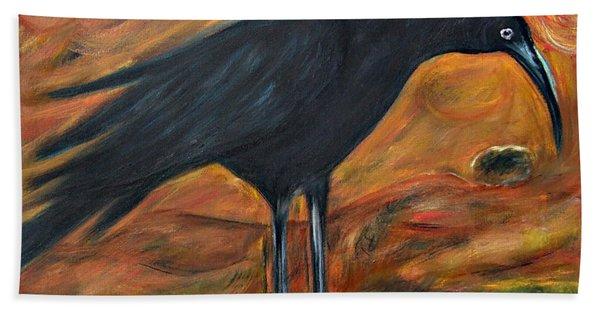 Long Legged Crow Bath Towel