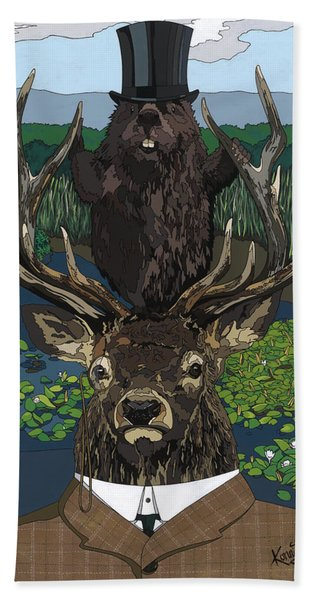 Lord Of The Manor With Hidden Pictures Bath Towel