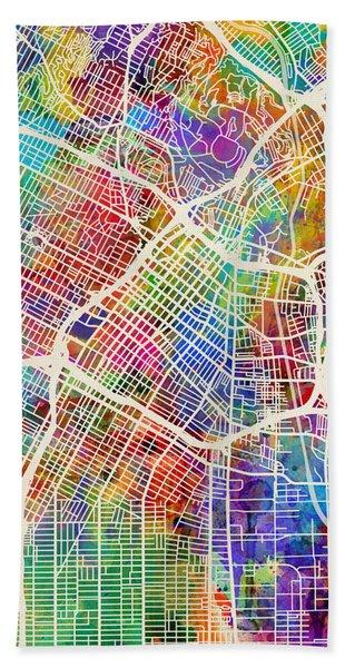 Los Angeles City Street Map Hand Towel