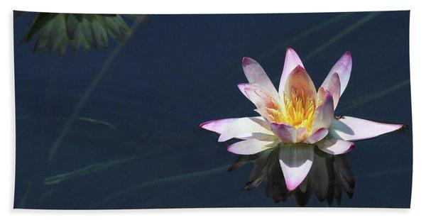 Lotus And Reflection Hand Towel