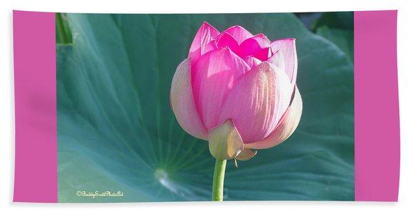 Lotus Pink Hand Towel