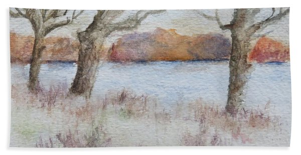 Lovers' Lake Hand Towel