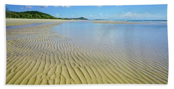 Low Tide Beach Ripples Bath Towel