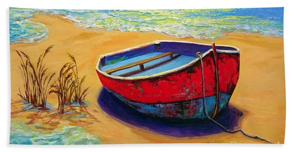 Low Tide - Impressionistic Art, Landscpae Painting Bath Towel