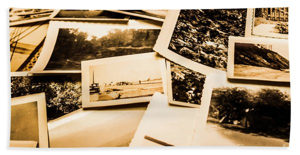 Lowdown On A Vintage Photo Collections Hand Towel