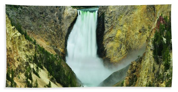 Bath Towel featuring the photograph Lower Falls No Border Or Caption by Greg Norrell