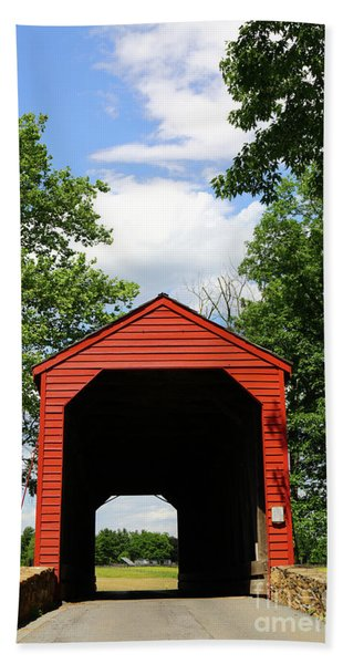 Loys Station Covered Bridge Maryland Hand Towel