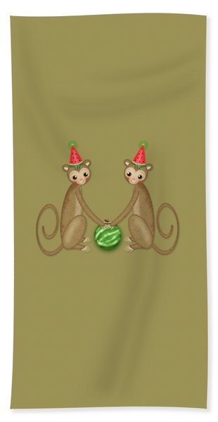 M Is For Monkeys Hand Towel